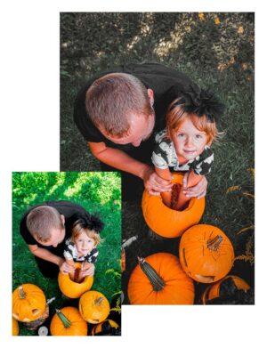 Preset pumpkin - ojciec z dzieckiem