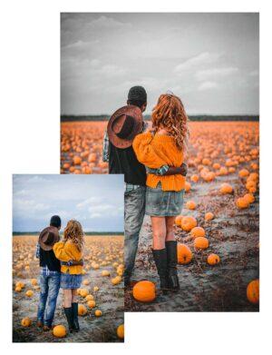 Preset pumpkin - zakochani na polu dyniowym