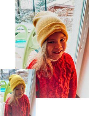 Christmas Time Preset - Dziewczynka w czerwonym swetrze