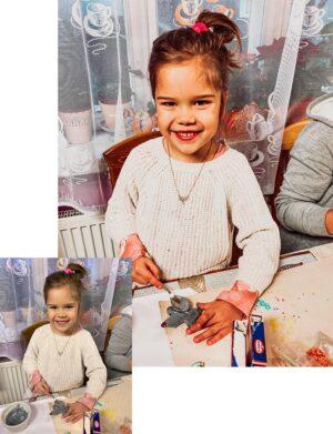 Christmas Time Preset - Dziewczynka robi pierniki