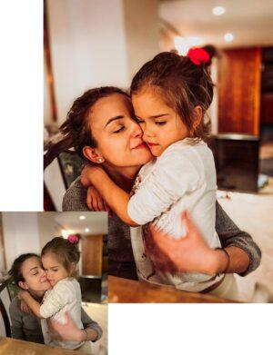 Christmas Time Preset - Mama z córką przytulają się